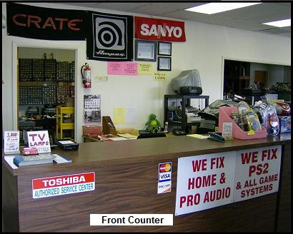 front counter authorized service center