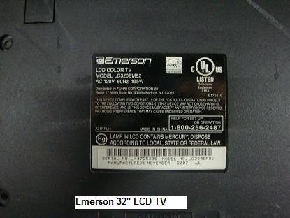 emerson lcd tv